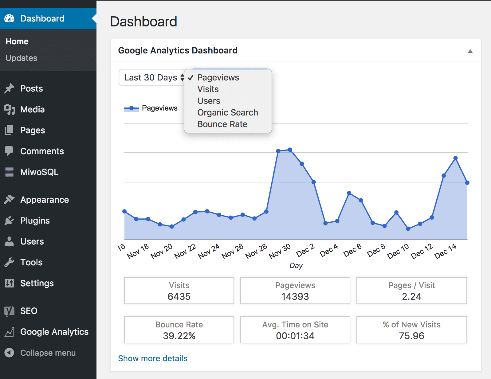 google analytics for wordpress plugins