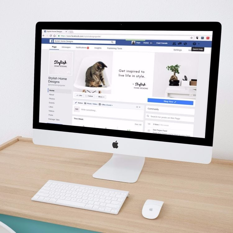 facebook marketing mistakes - facebook business page