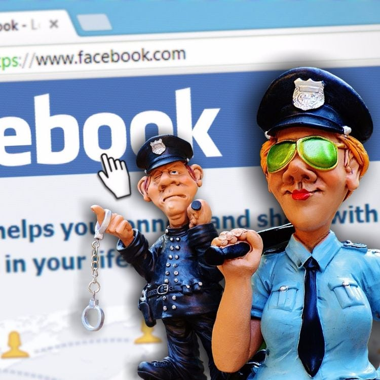 facebook marketing mistakes - facebook police