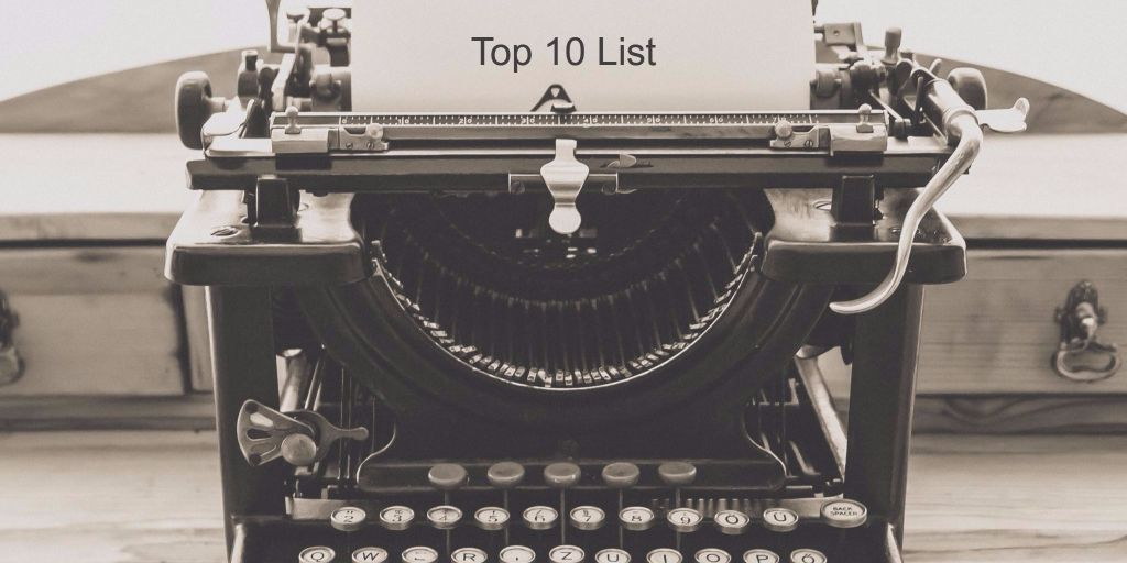 list-style blog posts - top 10 list