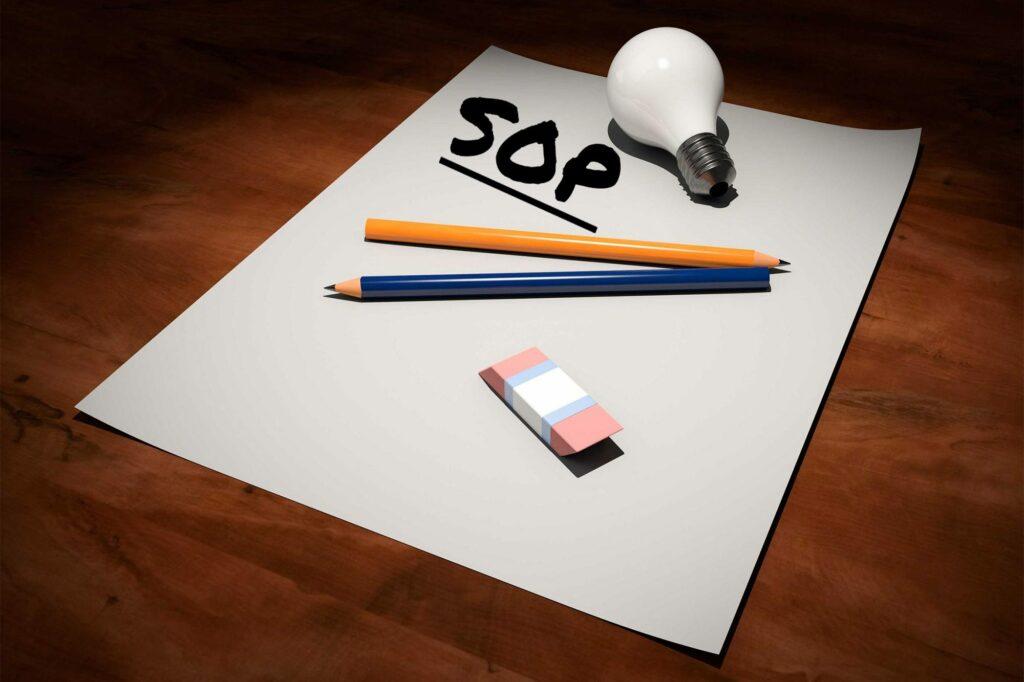 sop-written-on-paper-pencils-eraser-bulb