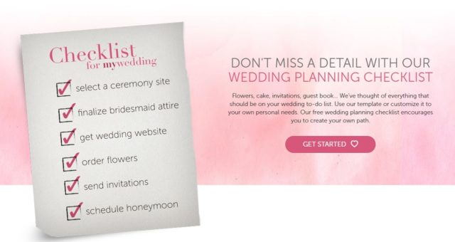 Lead Magnet Examples - my wedding checklist