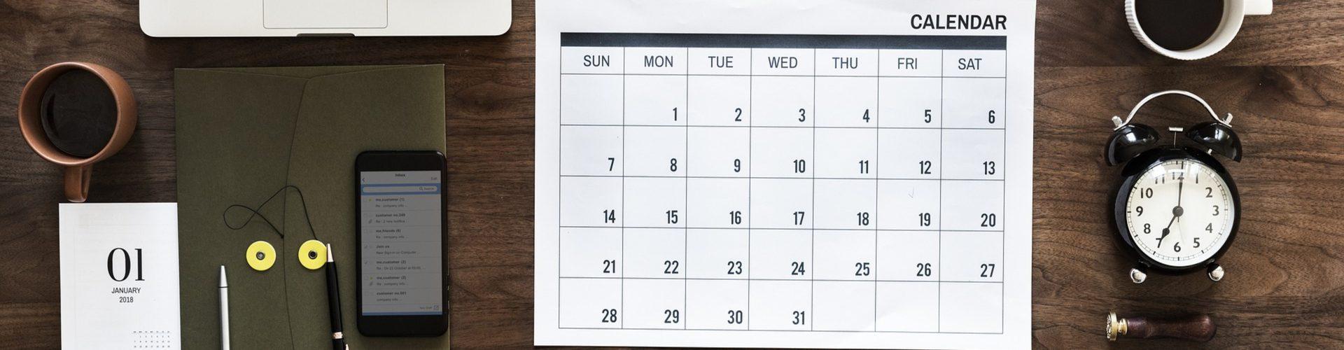 Blogging content calendar